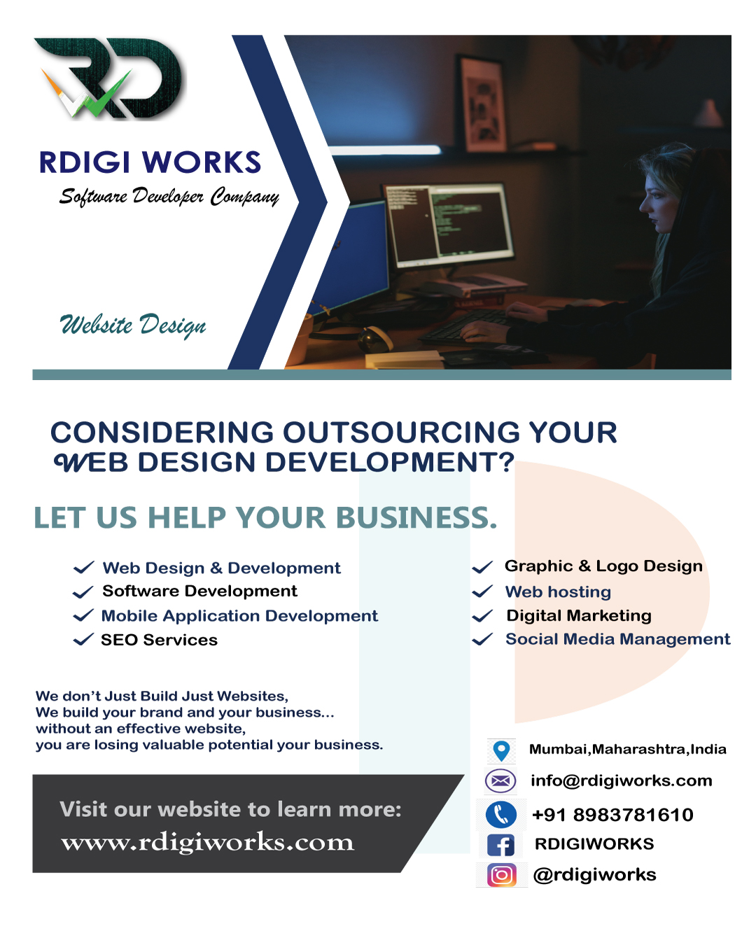 Best Offers For You  Upto 50% Off. Make Your website or Android apps and Grow your Business with RDIGI WORKS